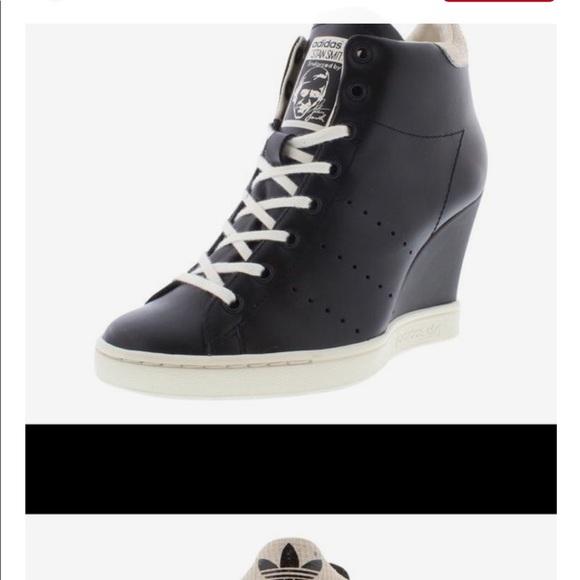 Le adidas pre - di proprietà di pelle nera, il merletto sz 95 poshmark